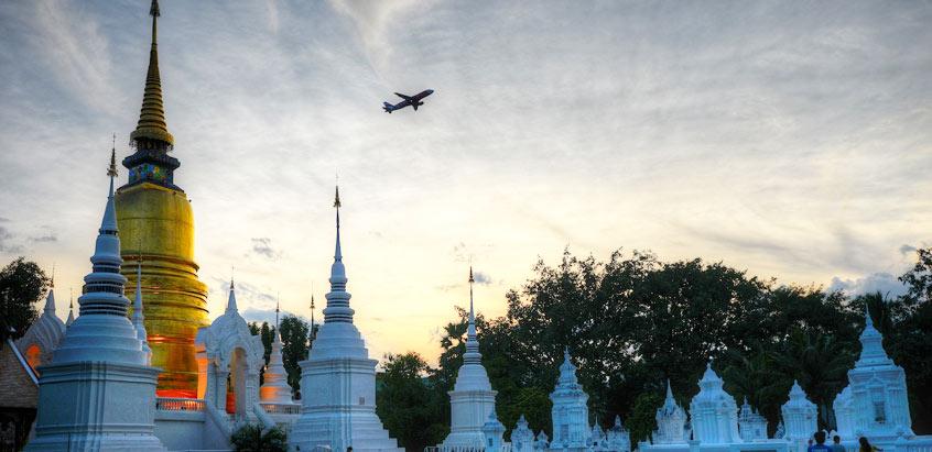 Wat Suan Dok in Chiang Mai  Thailand Car Rentals
